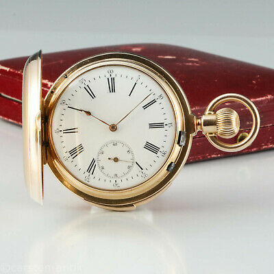 LeCoultre & Cie Taschenuhr Minuten Repetition 18k Gold 150g, 55mm, 1885, Box