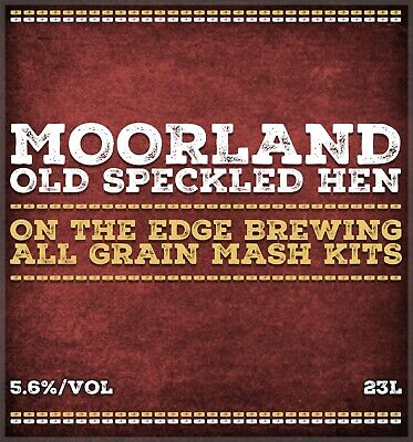 All Grain Brewing Kit Moorland Old Speckled Hen 5 Gal By On The Edge Brewing