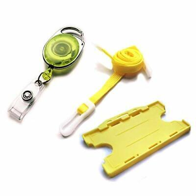ACB PREMPACKV10 Premier Double Sided Id Card Badge Holder Pack - Yellow