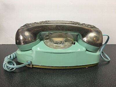 Vintage Blue Aqua Princess Rotary Dial Telephone. Rare . Tested