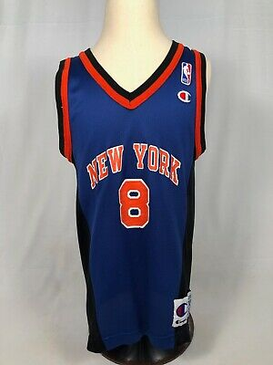 c5f993069 Latrell Sprewell New York Knicks Vintage Champion Jersey Youth Medium