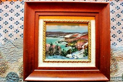 Canadian Art Painting, Listed Artist Sydney Berne 1921-2013,Laurentians, Qc ,