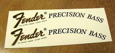 Fender Precision Bass Decal Headstock Waterslide Decals Vintage Guitar 1951 1975