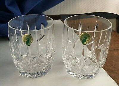 2 Waterford Crystal Westhampton Dof Whiskey Double Old Fashion Glasses Glass