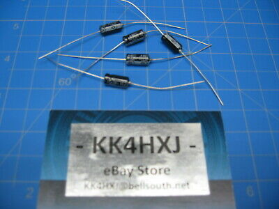 NIC  22uf 50v Electrolytic Axial Capacitor  NOS 16.5mm x 6.2mm Lot of 5