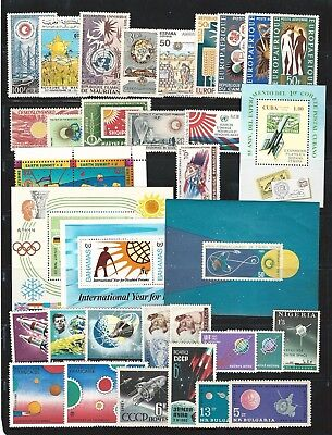 Worldwide: Lot of different, stamps thematic stars , satelites WO137