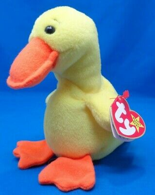2ea947675b0 PicClick Exclusive · Ty Beanie Baby ~ QUACKERS the YELLOW DUCK ~1993~PVC  PELLETS~6