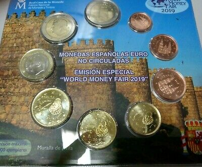 Vendo  Blister De 9 Monedas De Euro De España 2019. World Money Fair.  S/c