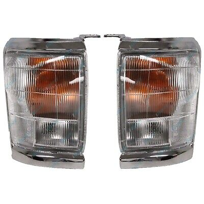 for Toyota Hilux 2WD/4WD '97-'Corner Indicator Lights LH+RH Chrome Trim