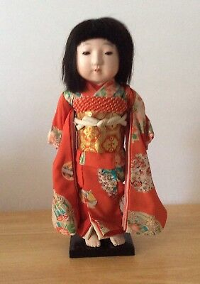 """Vintage Japanese Ichimatsu Doll About 14"""" Rare """"Made In Occupied Japan"""""""