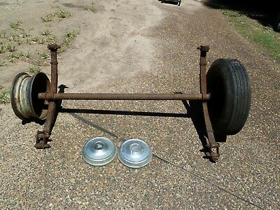 Trailer axle and wheels, Holden hubs