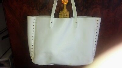 a13fc6fe22 White leather BARNEYS NEW YORK Studded Tote Bag