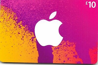 iTunes Gift Card UK £10 GBP Apple App Store Code | £10 Pound UK British English