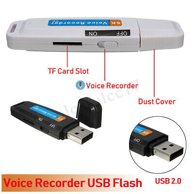 Rechargeable Digital Voice Recorder Dictaphone Usb Memory Stick Pen Tf Card Slot