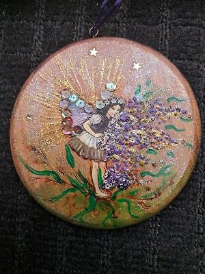 Perfect gift - Hand Made, Wooden, Fairy Fantasy Art wall Decoration