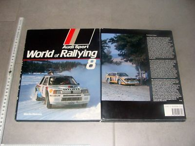 Audi Sport World of Rallying 8 1985 - Martin Holmes - quattro Rally Röhrl RAR!