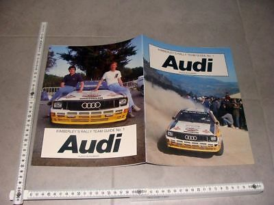 "Kimberley`s Rally Team Guide No.1 ""Audi quattro"" by Klaus Buhlmann Röhrl HB Team"
