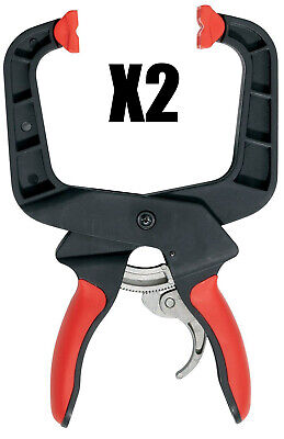 """Bessey XCRU5 4"""" Ratcheting Spring Clamp 2 Pack"""
