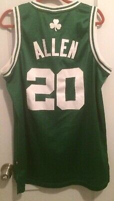 Ray Allen Boston Celtics NBA Jersey Men L Adidas Sewn  20 Jesus Pierce  Garnett b9563234b