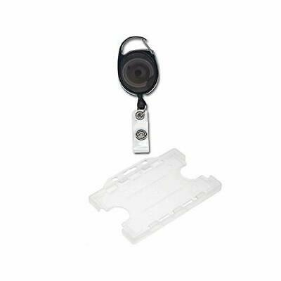 ID Card It Double Sided Id Card Pass Badge Holder with Premier Yo Yo Retractable