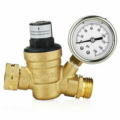 Renator M11-0660R Water Pressure Regulator Valve. Brass Lead-free Adjustable Wat