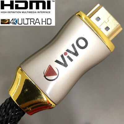 Pro Braided HDMI Cable Gold Plated 4K UHD FHD 3D 1080p 1m 2m 3m 5m 10m Lead v1.4