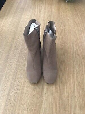 Ladies NEXT Suede Ankle Boots - Mink Size UK 6.5 (Immaculate)