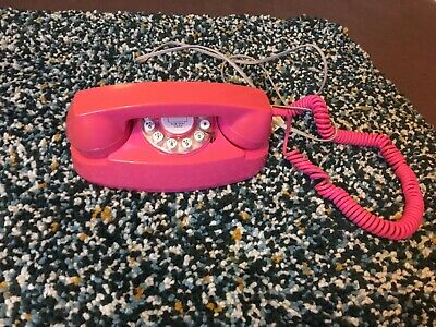 Retro Pink Telephone Phone Vintage 50s Kitsch Funky Phone Home Landline
