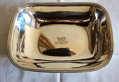 TIFFANY & CO STERLING SILVER  SERVING BOWL OR DISH  REED EDGE 1930s