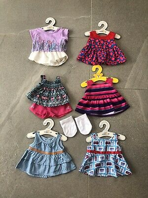 """Build A Bear clothes and shoes bundle """"Summer Outfits"""" 8 Items"""