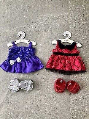 """Build A Bear clothes and shoes bundle """"Evening Wear"""" 4 Items"""