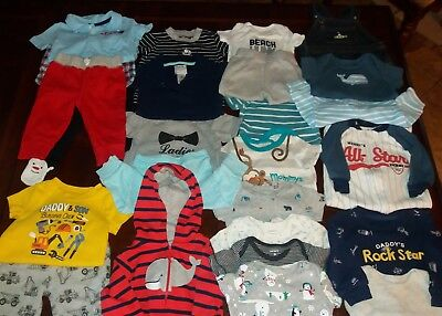 Huge Mixed Brand Carter's Lot of (26) Baby Boy's Clothes ~ Size 6M ~ EUC ~ Lot B