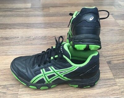 ASICS GEL LETHAL MP5 Men's BlackGreen Hockey Trainers UK 6 EU 40
