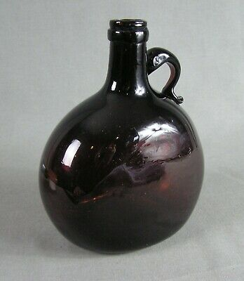Antique Amber Flask