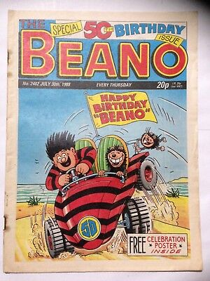 DC Thompson THE BEANO Comic. Issue 2402. July 30th 1988. **Free UK Postage**