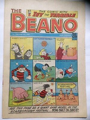 DC Thompson THE BEANO Comic. Issue 2396. June 18th 1988. **Free UK Postage**