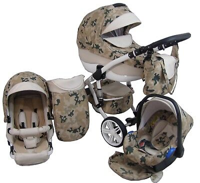 Baby 3in1 Pram Pushchair Buggy Stroller+Car Seat Modern Travel System  32 Color