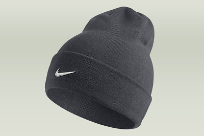 NIKE SWOOSH TRAINING KNIT BEANIE HAT - UNISEX MEN S WOMEN S Gray Silver NWT a10072ad560
