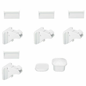 4pcs Lock+1 Key Magnetic Child Lock Baby Safety Baby Protection Cabinet Door Loc