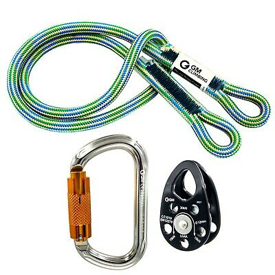 GM CLIMBING Hitch Slack Tending Pulley Kit for Double Rope Climbing Syste... New