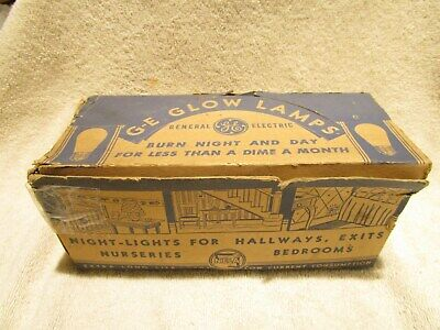 Vintage GE General Electric Glow Lamps Box with 8 Bulbs