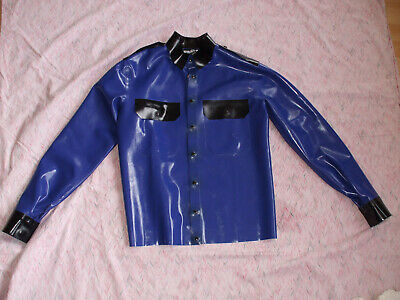 Gay Latex Gummi Uniformhemd Police Shirt, Hemd, Bluf,  Marke Latexas Gr. XS