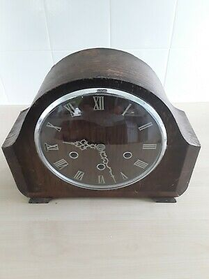 Vintage Smith's chimming Mantel Clock Spares Or Repair (please read discription)