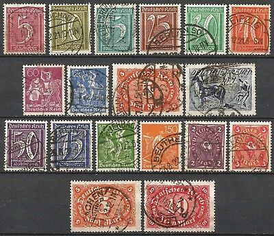 Germany Weimar Republic 1921 - Selection used Definitives