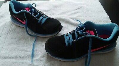 low priced 8d04c d4206 Nike Dual Fusion ST3 Womens Size 9 Running Shoes Black Blue