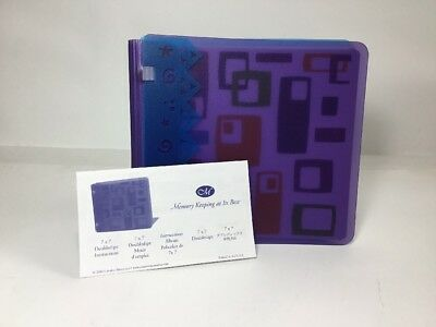 Creative Memories 7x7 Doubledipz Geometric Scrapbook Album w/Pages
