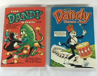 Vintage Dandy Annuals - 1974 and 1979 - Very Good Condition - Not Price Clipped