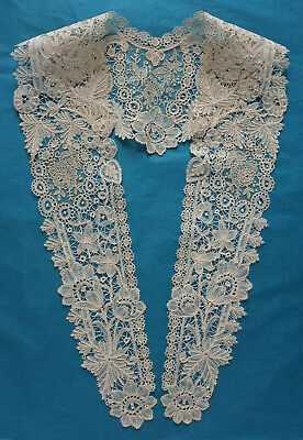Antique Brussels duchesse and point de gaze lace collar