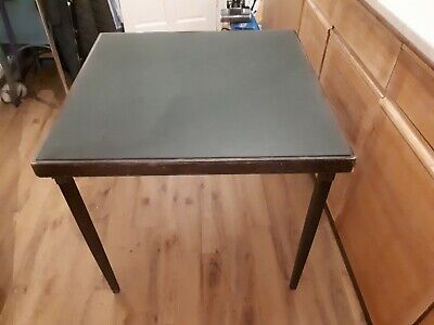 Old folding card table