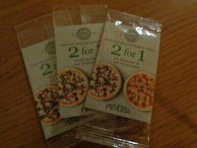 PIZZA EXPRESS MONEY OFF DISCOUNT VOUCHER 2 For 1 On Mains Feb - May 2019 x 3